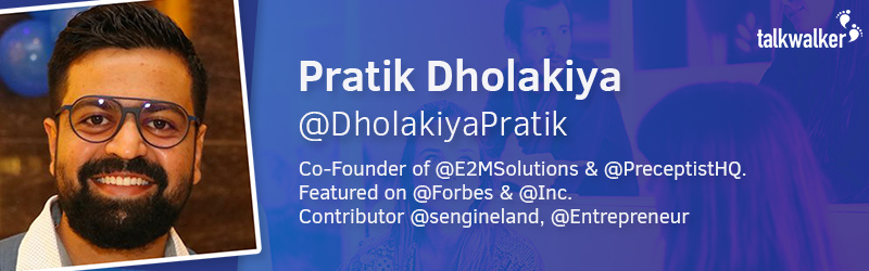 Pratik Dholakiya Co-Founder of E2M Solutions